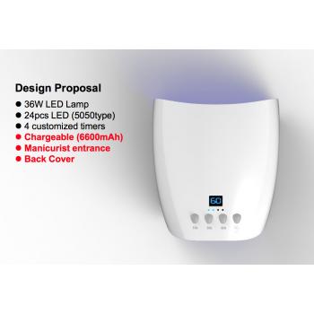 COD.LM9000 LAMPADA UV / LED DA 36W PORTATILE
