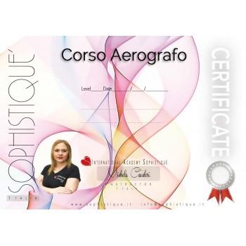 CERTIFICATO CORSO AEROGRAFO
